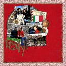 """Digital Scrapbook page created by tanyah666 featuring """"Around The World"""" and """"Taste of France and Italy"""" by Sahlin Studio and Britt-ish Designs"""