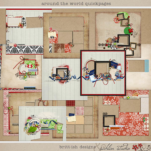 Around the World Quickpages by Britt-ish Designs and Sahlin Studio
