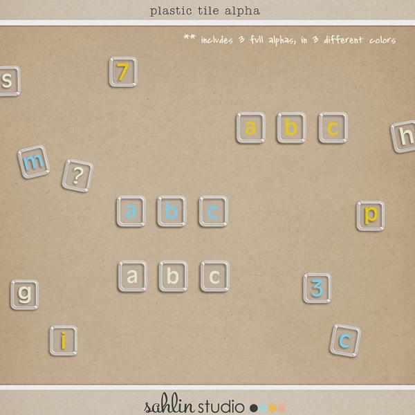 Plastic Tile Alpha by Sahlin Studio