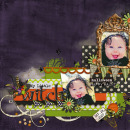 digital scrapbooking layout featuring Mansion Masquerade Clusters and Splatters by Britt-ish Designs, DeCrow Designs, Sahlin Studio and Tangie Baxter