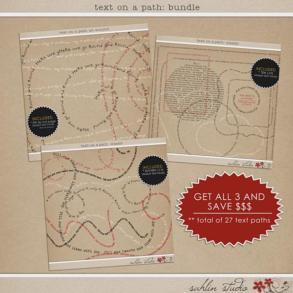 Text on Path: Bundle by Sahlin Studio