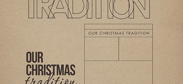 Our Christmas Traditions Word Art by Sahlin Studio
