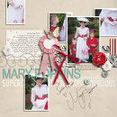 "Digital Scrapbook Page featuring ""Practically Perfect"" by Sahlin Studio"