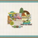"""Digital Scrapbook page created by carolee featuring """"Summer Camp"""" by Sahlin Studio"""