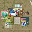 """Digital Scrapbook page created by britt featuring """"Summer Camp"""" by Sahlin Studio"""