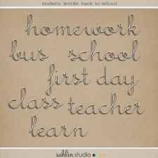 Modern Words: Back to School by Sahlin Studio