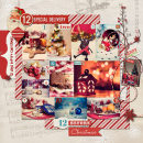 layout featuring December Daily Numbers by Sahlin Studio