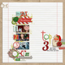 layout by kimbytx featuring December Daily Numbers, Washi Tape Strips and Brown Paper Packages (Papers) by Sahlin Studio
