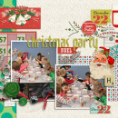 class party layout by kristasahlin featuring Kitschy Christmas Collection by Jennifer Barrette and Sahlin Studio