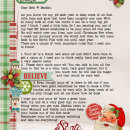 santa letter featuring Kitschy Christmas Collection by Jennifer Barrette and Sahlin Studio