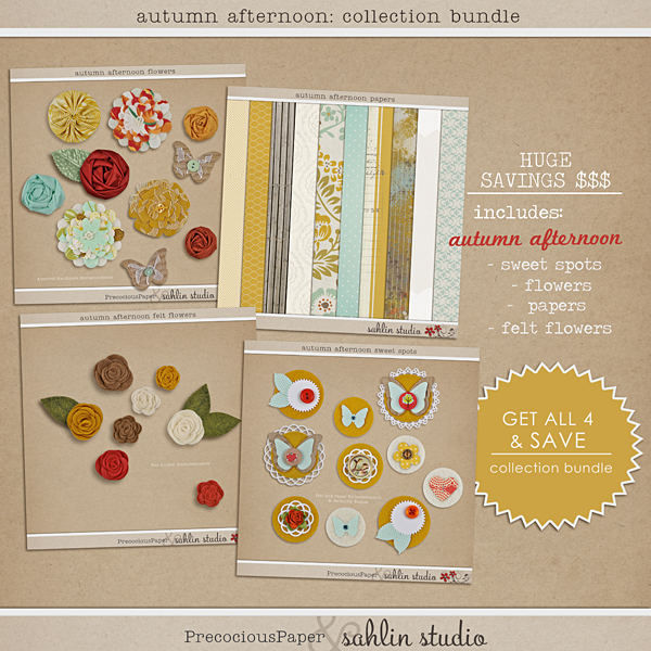 Autumn Afternoon Bundle by Precocious Paper and Sahlin Studio