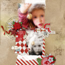 layout by amberr featuring Brown Paper Packages (papers), Very Merry (Elements) and Washi Tape Strips by Sahlin Studio