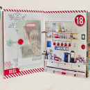december daily album by MarieL featuring December Daily Numbers, Brown Paper Packages (Papers) and Washi Tape Strips by Sahlin Studio