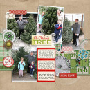 christmas tree layout by kristasahlin featuring Washi Tape Strips, Brown Paper Packages (Papers), Very Merry (Elements) and December Daily Numbers by Sahlin Studio