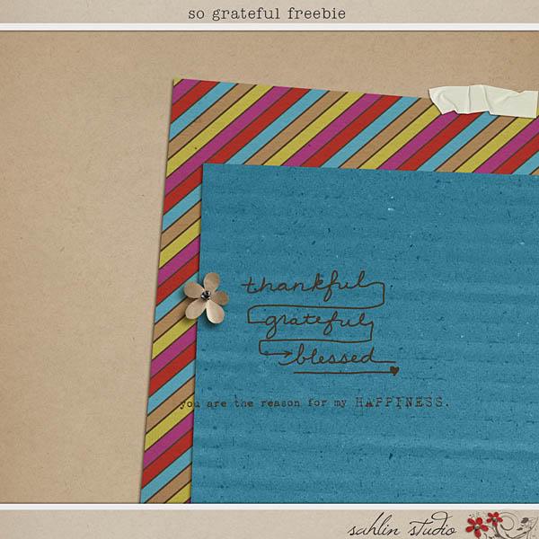 So Gratefule Freebie by Sahlin Studio