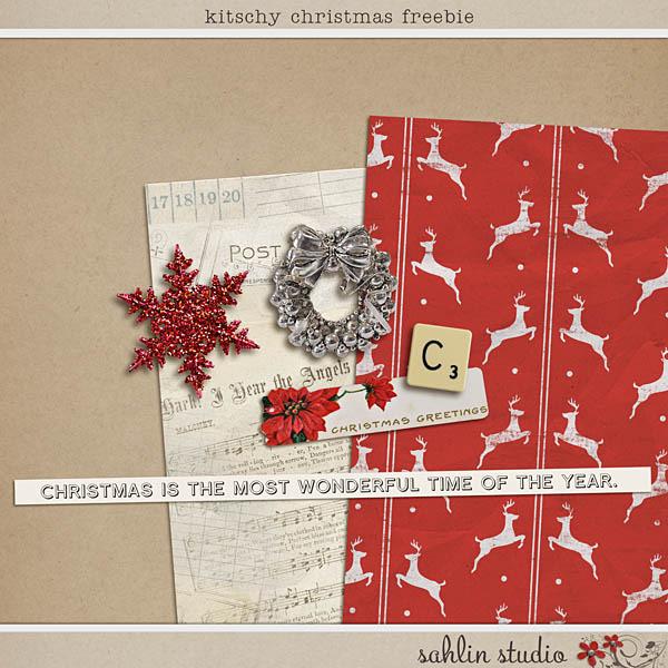 Kitschy Christmas Freebie by Sahlin Studio