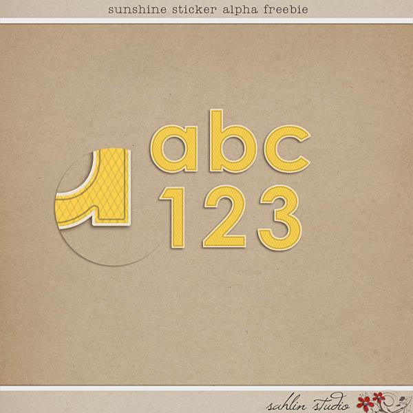 Sunshine Sticker Alpha Feebie by Sahlin Studio