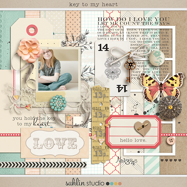 Key To My Heart (Kit) by Sahlin Studio