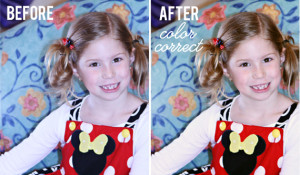 color correct before after
