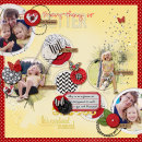 layout by amberr featuring Precocious by Sahlin Studio and Precocious Paper