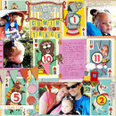 layout by britt featuring Vintage Playing Cards and Anagram Letter Tile Alpha by Sahlin Studio