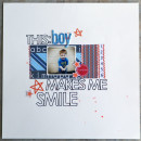 layout by BrynnMarie featuring This Makes Me Smile Word Art by Sahlin Studio