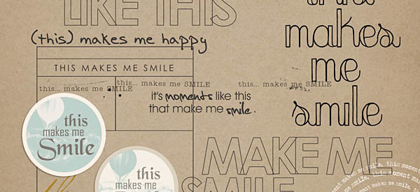 this makes me smile: word art by sahlin studio