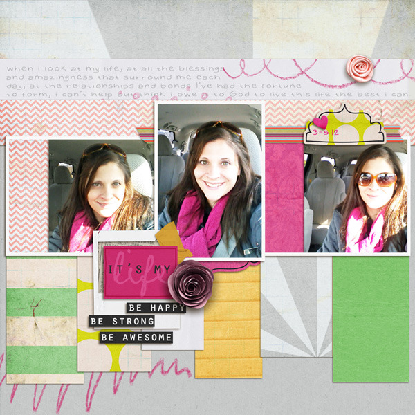 It's My Life layout by RebeccaH featuring Paper Focus Templates by Sahlin Studio