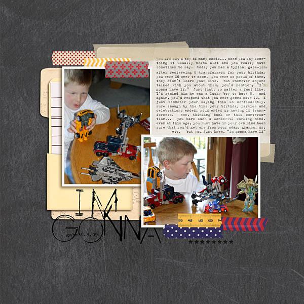 kristasahlin - inspirational scrapbook layout