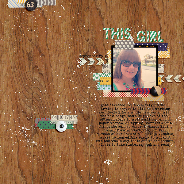 mrsski07 - inspirational scrapbook layout