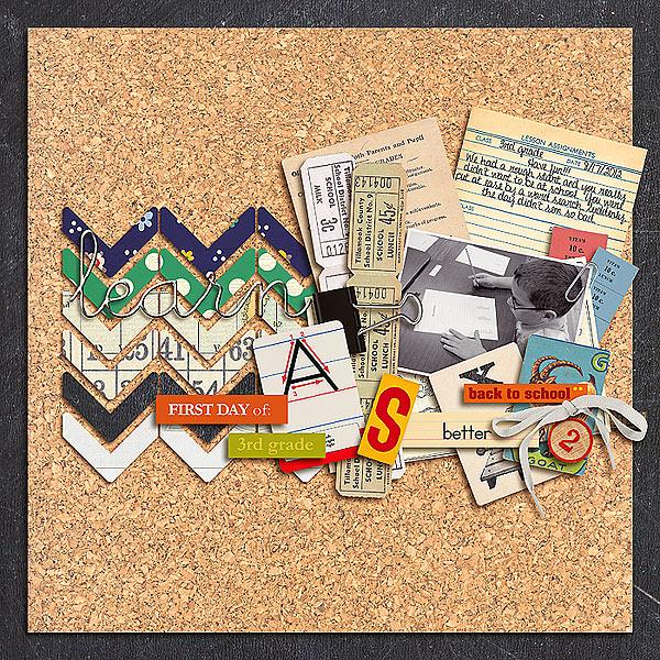 nikki epperson - inspirational scrapbook layout
