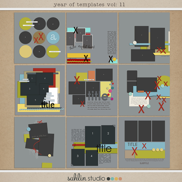 Year of Templates vol. 11 by Sahlin Studio