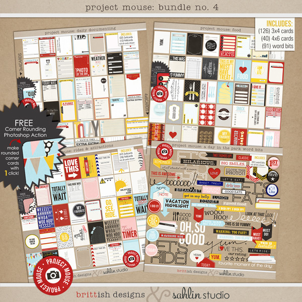 Project Mouse: BUNDLE No. 4 A Day in the Park by Britt-ish Designs and Sahlin Studio