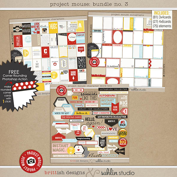 project mouse: bundle 3 autographs and characters by britt-ish designs and sahlin studio