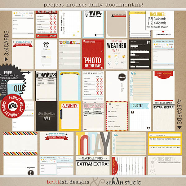project mouse: daily documenting by britt-ish designs and sahlin studio