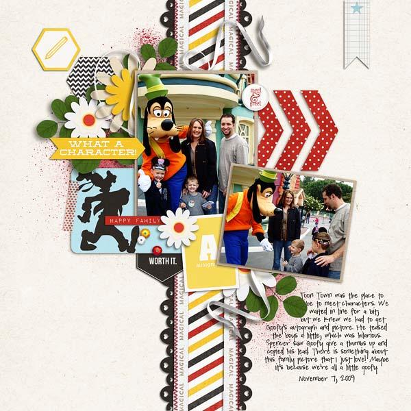 erica - inspirational scrapbook layout