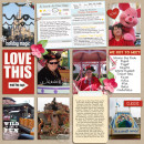 """Disney Digital Project Life page created by yzerbear19 featuring """"Project Mouse: Bundle No. 3 - Character Moments"""" by Sahlin Studio & Britt-ish Designs"""