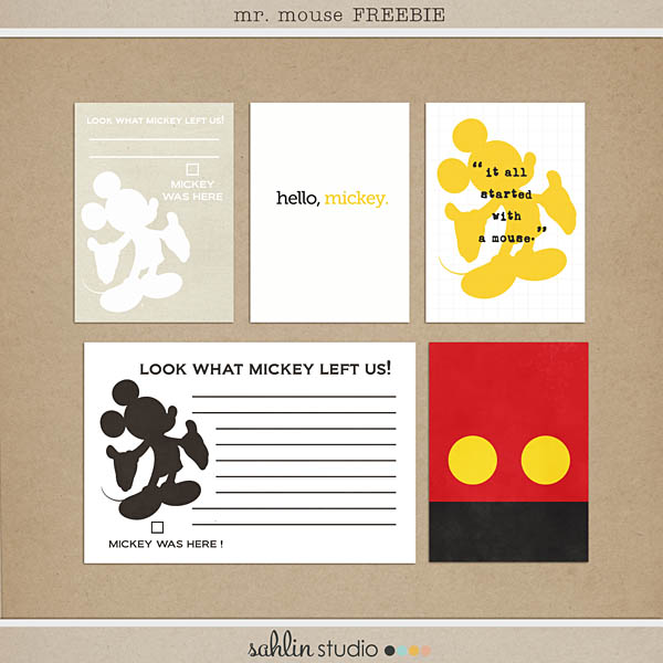 sahlin studio mr mouse cards freebie
