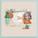 """Digital Scrapbook Page created by Dana featuring """"Wood Veneer - Arrows"""" by Sahlin Studio"""