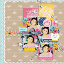 Disney Project Life page created by scrappydonna featuring Project Mouse Princess by Sahlin Studio & Britt-ish Designs