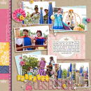 Disney Project Life page created by tronesia featuring Project Mouse Princess by Sahlin Studio & Britt-ish Designs - 1