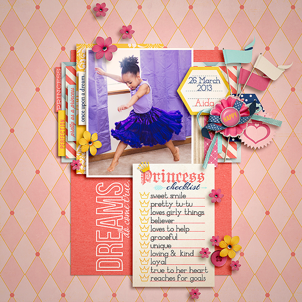 Disney Project Life page created by tronesia featuring Project Mouse Princess by Sahlin Studio & Britt-ish Designs - 2