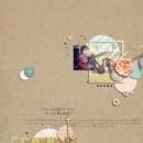 "Digital Scrapbook Page created by crystalbella77 featuring ""Wood Veneer - Arrows"" by Sahlin Studio"