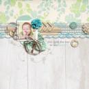 "Digital Scrapbook Page created by sucali featuring ""Wood Veneer - Arrows"" by Sahlin Studio"