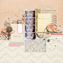 """Digital Scrapbook Page created by dianeskie featuring """"Wood Veneer - Arrows"""" by Sahlin Studio"""