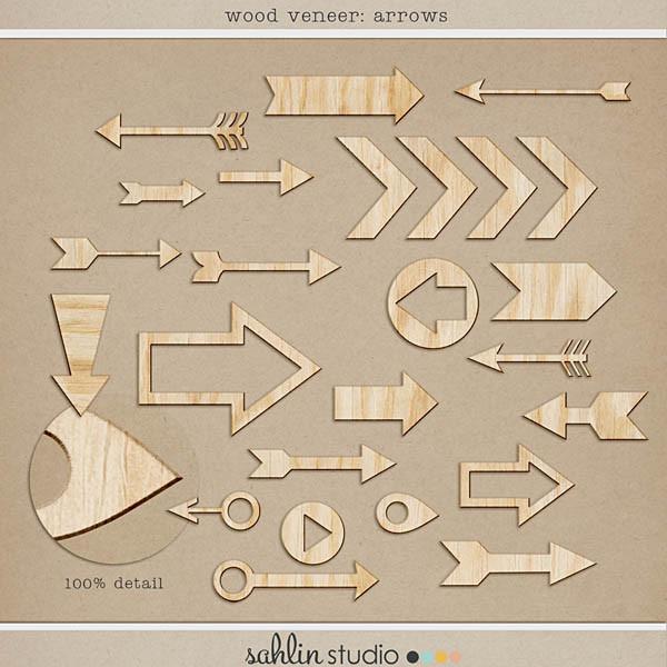 wood veneer: arrows by sahlin studio