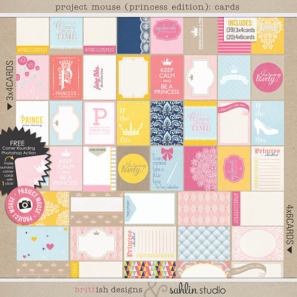 Project Mouse: (Princess Edition): Cards by Britt-ish Designs and Sahlin Studio