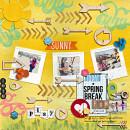 "Digital Scrapbook Page created by heathergw featuring ""Wood Veneer - Arrows"" by Sahlin Studio"