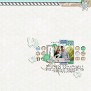 """Digital Scrapbook page created by TeaWithLemon featuring """"Down the Lane"""" by Sahlin Studio"""