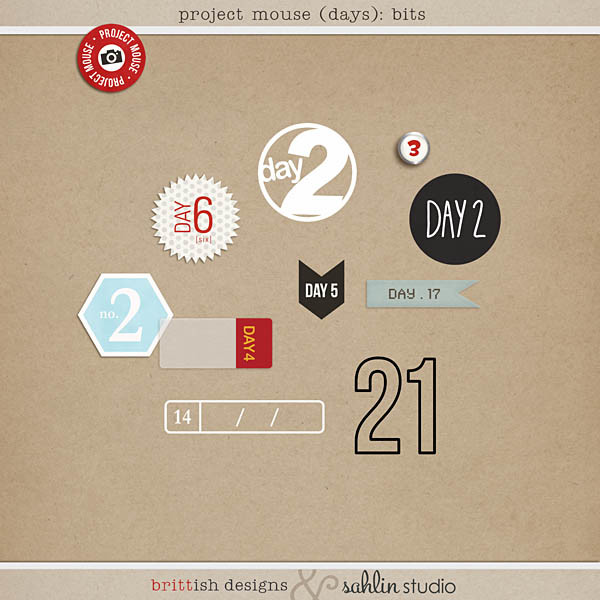 project mouse (days): bits by britt-ish designs and sahlin studio